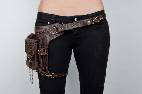 Thigh-Strapped Steampunk Bags
