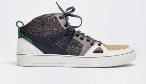 Couture Crocodile-Textured Kicks