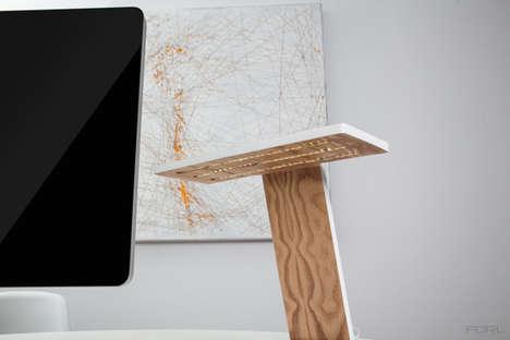 Minimalist Plywood Desk Lights