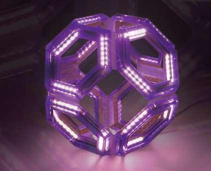 Fluorescent Hexagonal Fixtures