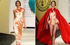 Whimsical Fairytale Fashion - The Ulyana Sergeenko Spring Collection is Eclectically Chic