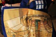 Time-Traveling Spacecraft Gowns - The TARDIS Dress Conceals a Secretly Spacious Interior