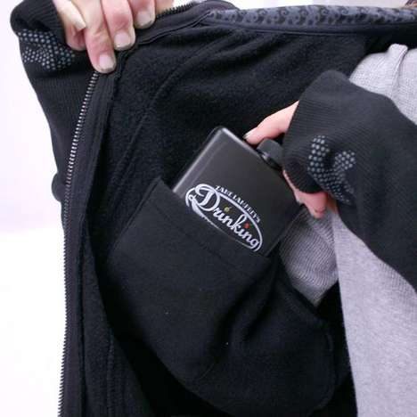 Alcohol-Toting Ensembles - The Drinkmaster Hoodie is a Hands-Free Booze-Carrying Option