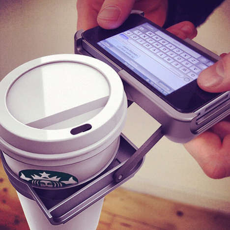 Coffee-Holding Phone Cases