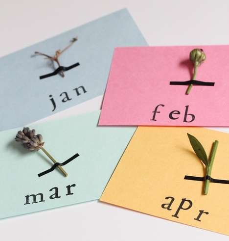 DIY Flower-Infused Calendars - The Botanical Calendar Journal Makes Use of Your Favorite Plants