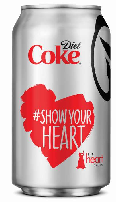 Heartwarming Pop Campaigns - The Diet Coke 'Heart Truth' Initiative Promotes Love