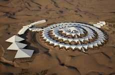 Self-Sustaining Desert Hotels - This Modern Hotel Floats on Sand in the Gobi Desert