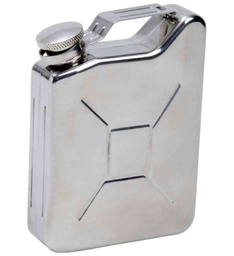 Nostalgic Gasoline-Inspired Flasks