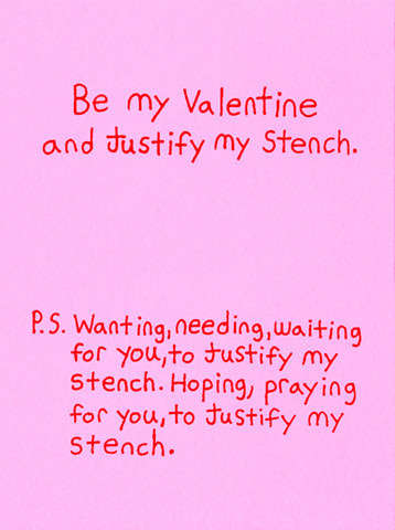 Blunt Love Notes - Jeffrey Wright Designs Strange and Funny Valentine's Day Cards