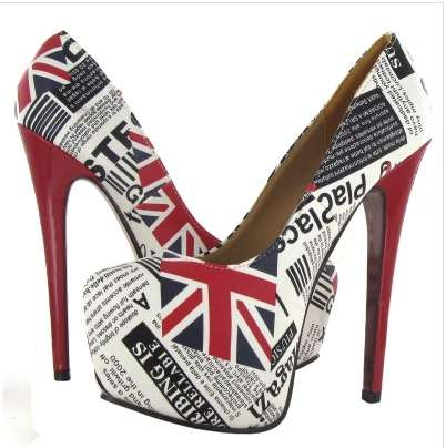 The UK News Shoes From Legend Footwear are Decorated By Historical Headlines