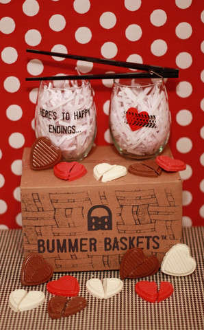 Anti-Valentine's Day Packages - The Valentine's Day Bummer Basket is for the Broken-Hearted