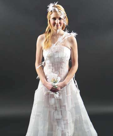 Upcycled Bottle Bridal Gowns
