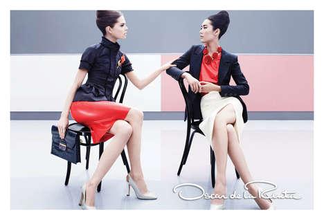 Sleek 60s-Inspired Fashion Ads