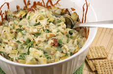 Meaty Game Day Dips - This Super Bowl Dip Recipe is Packed With Chicken, Bacon and Artichokes