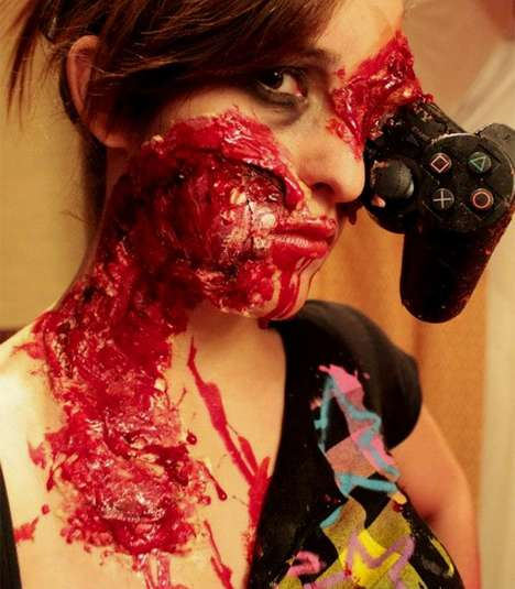 Gruesome Gamer Girl Looks - This Realistic Zombie Makeup is Frighteningly Gory