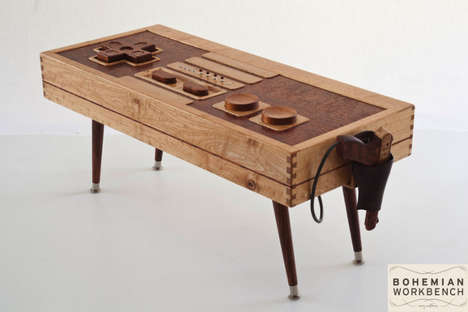 Functional Wooden Gamer Tables