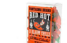 Spicy Gummy Candies  - The Red Hot 3 Alarm Chilli Jellies are Fiery Hot