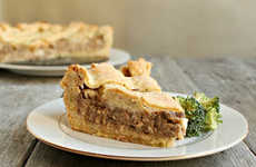 Peculiar Burger-Based Pies - The Deep Dish Cheeseburger Pie is for Meat-Loving Pie Enthusiasts