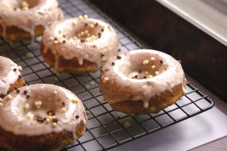 Gourmet Banana Bread Donuts - These Donuts Fuse Scrumptiously Sweet Bread into a Glazed Confection
