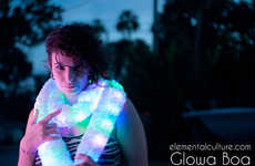 LED Scarves - Brighten up any Party Atmosphere with the Glowa Light-Up Boa
