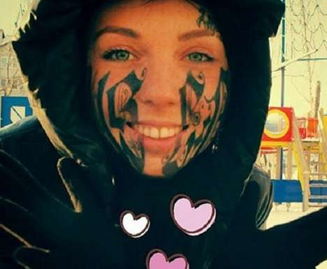 Extreme Commitment Facial Tattoos