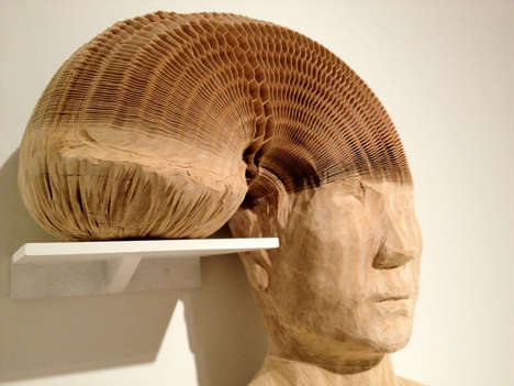 The Li Hongbo Accordion-like Sculptures are Made Entirely with Paper