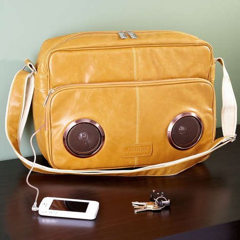 Speaker-Infused Purses - The Speaker Messenger Bag Can Play Your Favorite Tunes While On-The-Go