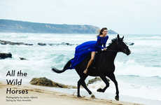 Equestrian Beachwear Editorials - Fashion Gone Rogue 'All the Wild Horses' Stars Model Juliana Forge