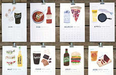 Macho Manly Consumption Calendars - The Beer/Food Calendar Gives Suggestions for Perfect Pairings