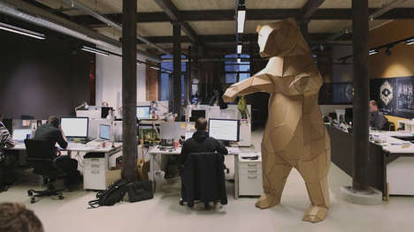 Office Toys Are Taken to a New Level with The Giant Office Bear
