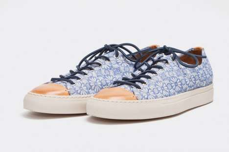 The Buttero 'Tanino'  Floral Blue Sneakers Are Two-Toned