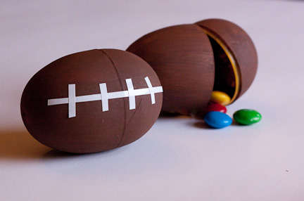 Football-Shaped Candy Containers - These Party Favors are Perfect for Super Bowl-Themed Snacks