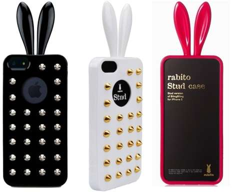Embellished Bunny Smartphone Sheaths - The Studded Rabito Case is Tough, Quirky and Super Kawaii