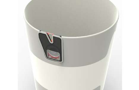 Sack-Sealing Rubbish Bins - Laser Trash Can Integrates a Mechanical Notch to Close Off Garbage Bags