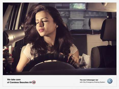 The Volkswagen Up Careless Ads Target a Woman's Attention Span