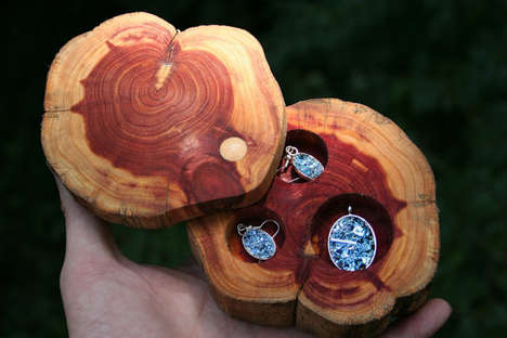 Camouflaged Trinket Containers - Etsy Seller Element83 Offers Handcrafted Cedar Jewelry Boxes
