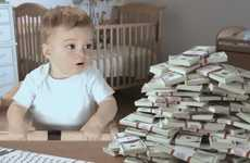 Talking Toddler Tax Ads - This Talking Baby Super Bowl Commercial Comes from E-Trade