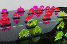 Futuristic 8-Bit Board Games - The NMI Laser Team Develops This Vibrant Space Invaders Chess Set