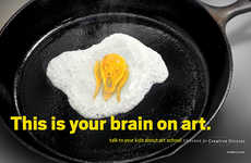 Parodied School PSAs - The College for Creative Studies Campaign Compares Art to Drugs