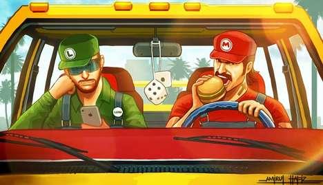 Iconic Video Game Mash-Ups