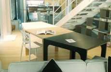 Angle-Edged Desks - The Slant-Sided Katana Modular Table Offers a Range of Abstract Arrangements