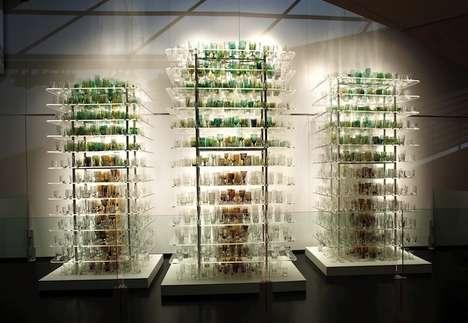 Delicate Tree Glass Sculptures