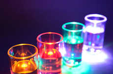 Light-Sensitive Shot Glasses - These Shooter Glasses Light Up as Drinks are Poured In
