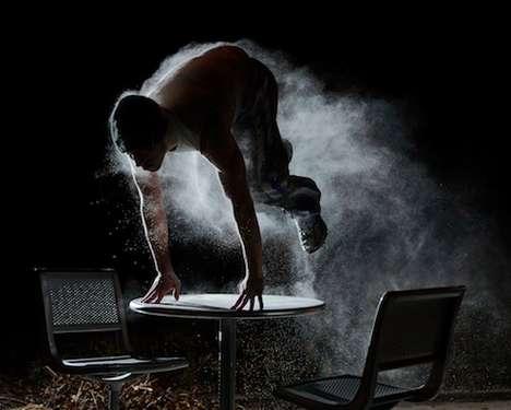 Powdered Acrobatic Photography