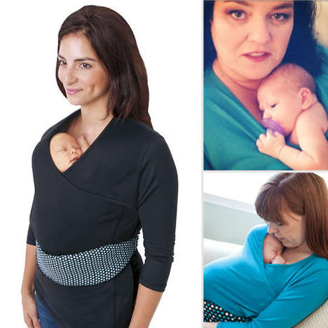 Baby-Carrying Shirts - The NüRoo Pocket Encourages Skin-to-Skin Contact with Newborns