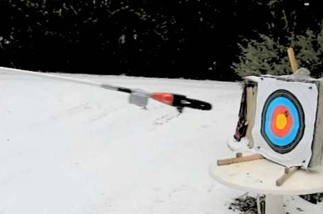 DIY Flying Chainsaw Launchers