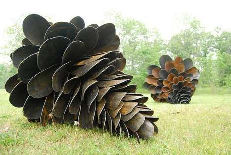 Giant Pine Cone Sculptures