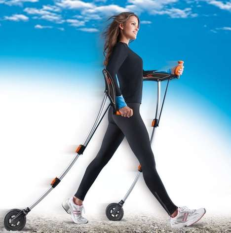 Walking Workout Equipment - The Cross Shaper Turns a Stroll into a Powerful Walking Exercise