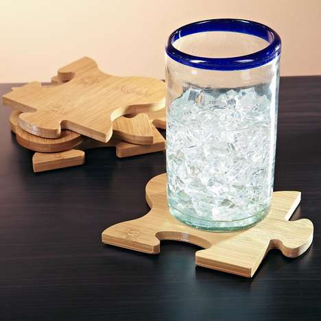 Puzzle Piece Bamboo Coasters