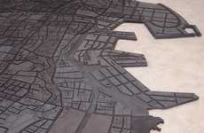Rubber City Maps - Beirut Map Art by Marwan Rechmaoui Emphasizes Class Differences